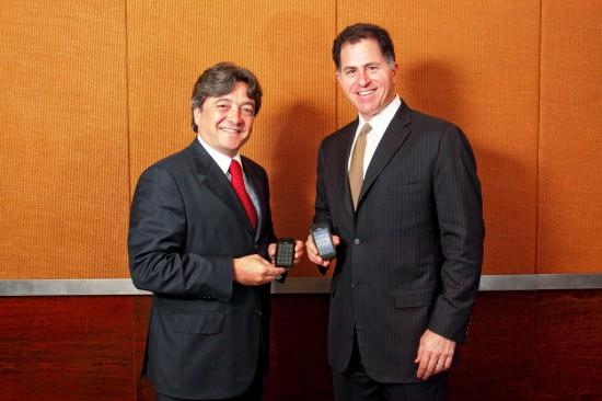 João Cox, presidente da Claro, e Michael Dell