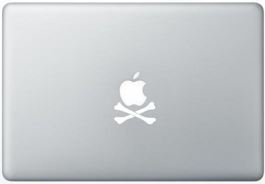 Apple Crossbones num MacBook Pro