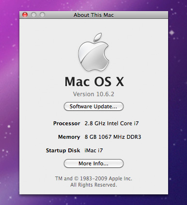 About do iMac Core i7