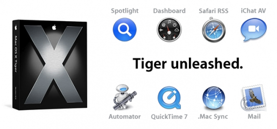 Propaganda do Mac OS X Tiger
