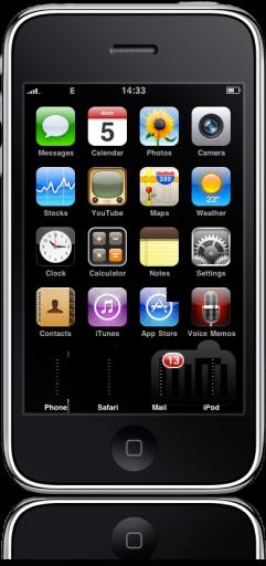 iPhone OS com erro feio