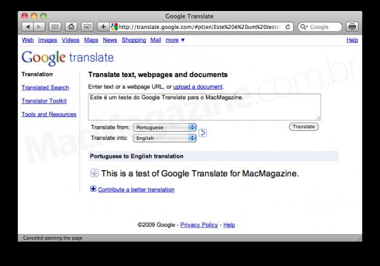 Novo Google Translate