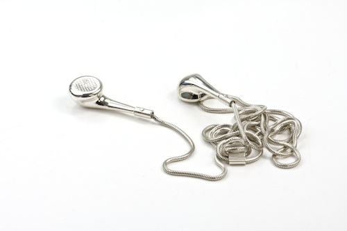Limited edition silver iPod earphones pendant