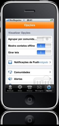 Nimbuzz 1.4 no iPhone