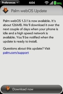 webOS 1.3.1