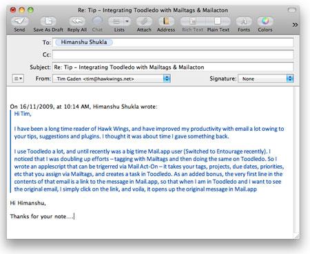 QuoteFix no Mail.app