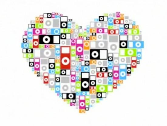 Coração de iPods
