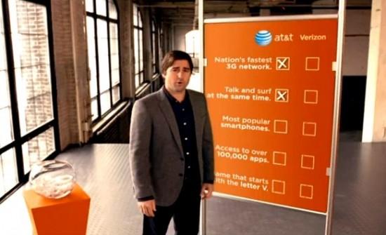 Luke Wilson em comercial da AT&T