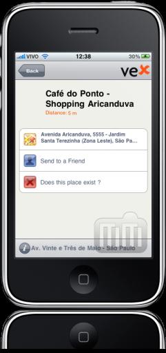 Vex Locator no iPhone