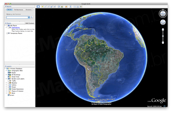 Google Earth 5.1 para Mac