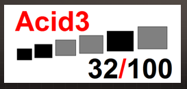 Acid 3 no IE9 (com uma suposta sombra ao redor, diga-se de passagem): ainda o pior na categoria