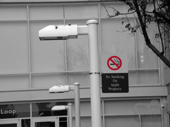 Apple proíbe cigarro no seu campus em Cupertino