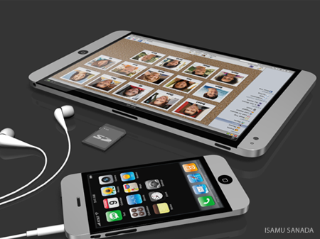 Apple tablet, por Isamu Sanada