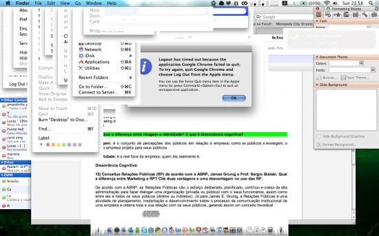 Mac FAIL - Chrome travado