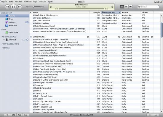 iTunes FAIL Win linha branca