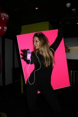 Fantasia de silhueta dos iPods