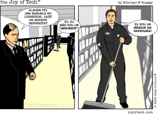 Joy of Tech: serventes das Apple Retail Stores