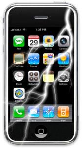 iPhone com raio