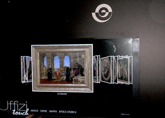 Projeto da Galeria Uffizi com Cover Flow