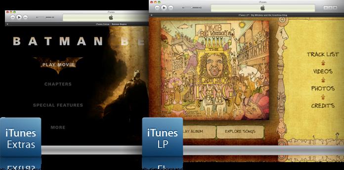 Destaque de iTunes LPs e Extras