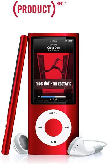 iPod nano vermelho - (PRODUCT)RED