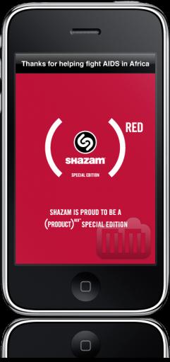 SHAZAM(RED) no iPhone