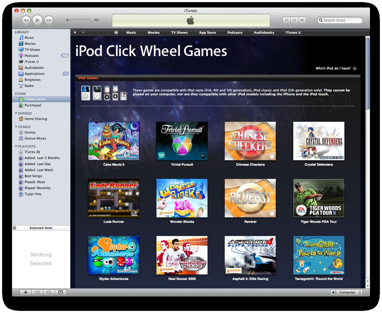 iPod Click Wheel Games - iTunes Store