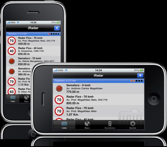 iRadar Brasil 3.0 no iPhone