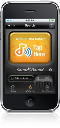 Midomi SoundHound 3.0 no iPhone