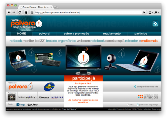 Promo Polvora - Blogs de tecnologia
