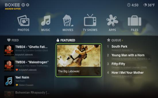 Screenshot do Boxee Beta