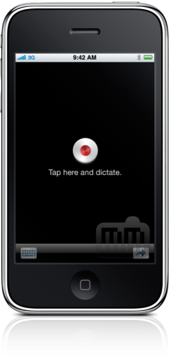 Dragon Dictation no iPhone