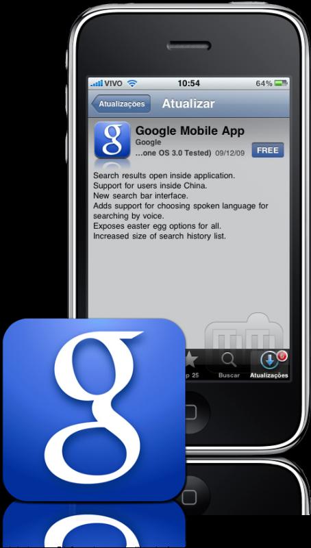 Google Mobile App atualizado