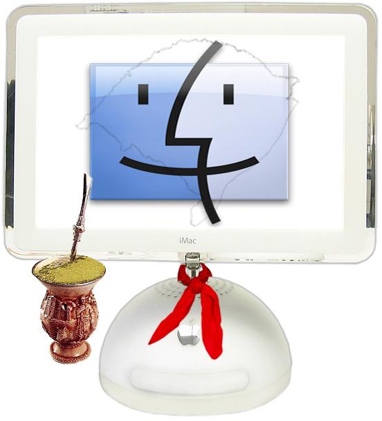 Mascote do Sul: iMac tomando chimarrão