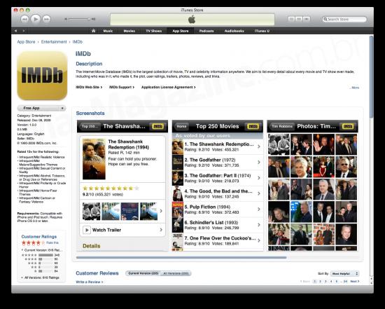 Novo visual da App Store