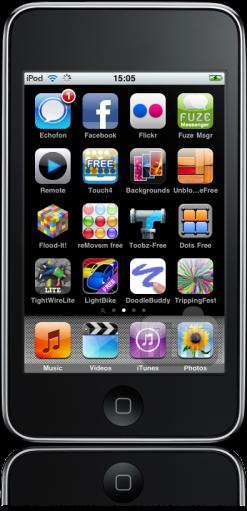 iPod touch FAIL barra superior preta