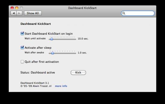 Dashboard KickStart