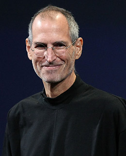 Steve Jobs (CEO da Apple) sorrindo
