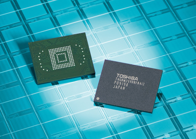 Chips NAND flash de 64GB da Toshiba