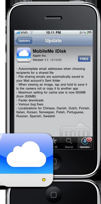 MobileMe iDisk no iPhone