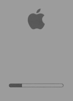 Barra de progresso durante o boot de um Mac