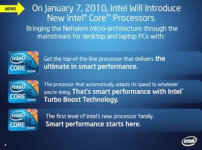 Roadmap da Intel para 2010