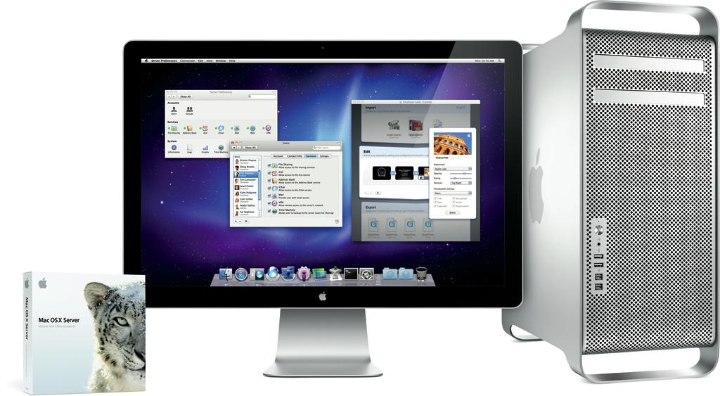Mac OS X Server em Mac Pro