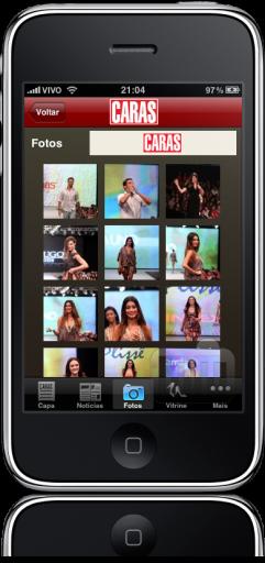 CARAS no iPhone