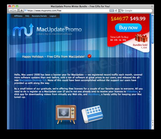 MacUpdate Promo — MainMenu e Videobox