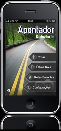Apontador Rodoviário no iPhone