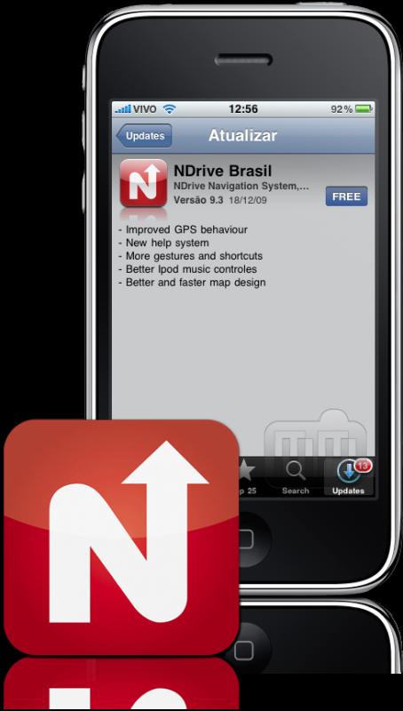 NDrive Brasil 9.3 no iPhone