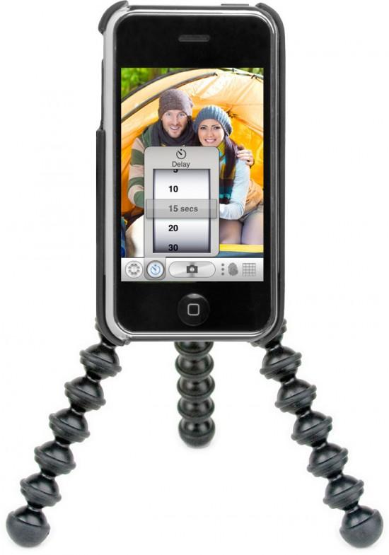 Gorillacam no iPhone com tripé