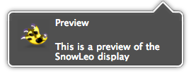 Growl style — SnowLeo