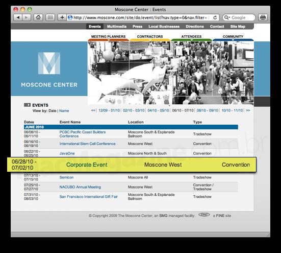 WWDC 2010 no Moscone West?